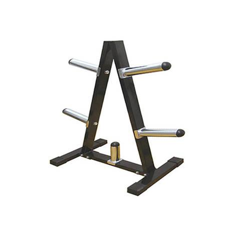 Подставка (стойка) для олимпийских и классических блинов (дисков) Zelart  (металл, р-р 39х75х104см), фото 2