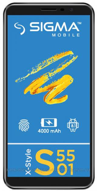 Мобільний телефон Sigma mobile X-style S5501 Black 4G