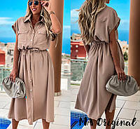 Платье - рубашка / шелк софт 7-2-243, фото 1