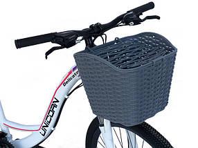 Велосипедна кошик сіра