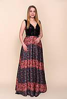 Женское вечернее платье длинное в пол для праздника недорого. Размеры 42, 44, фото 1