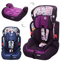 Автокресло детское для машины (кресло для авто) с регулируемым подголовником 2в1 Bambi JUNIOR(ME 1008-1)