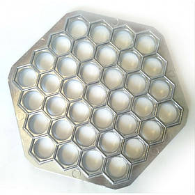 Пельменница форма металлическая 37 отверстий 22,5 х 25 х 1,7 см