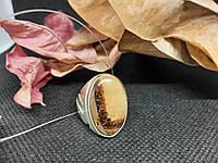 Септария кольцо драконий камень 18 размер перстень из натуральной септарии Индия