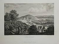 Гравюра 1836 Сбор винограда, Тюбинген Германия