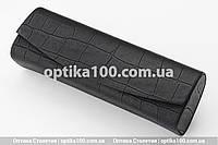Темно-коричневий футляр для окулярів на магніті під шкіру