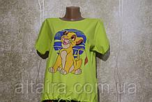 Женские футболки салатовая, черная, голубая Король лев. Жіночі футболки салатова,чорна,голуба.