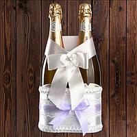 Корзинка для шампанского на 2 бутылки, лиловый цвет, арт. BFB-19
