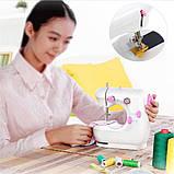 Мини машинка швейная sewing machine jysm-301, фото 7