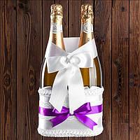 Корзинка для шампанского на 2 бутылки, фиолетовый цвет, арт. BFB-29