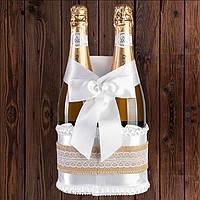 Корзинка для шампанского на 2 бутылки, рустик, арт. BFB-30