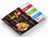 Протеиновая шоколадка Power Pro  «SPORT» Черная с Арахисом (70 грамм)