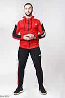 Стильный молодёжный спортивный костюм красный с чёрным  46, 48, 50, 52
