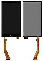 Дисплейный модуль (дисплей + сенсор) для HTC Desire 816, черный, оригинал