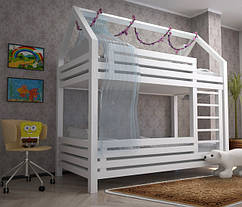 Ліжка будиночки двоярусні