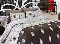 Комплект постельного белья размер ПОЛУТОРНЫЙ материал - бязь коричневый с узором