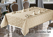 Скатерть  прямоугольная MAISON ROYALE 160*220 + 8 салфеток Rosalite set