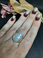 Лунный камень кольцо с натуральным лунным камнем в серебре. Размер 18,2 Индия