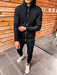 😜 Спортивный костюм - стильный мужской спортивный костюм черный, фото 2