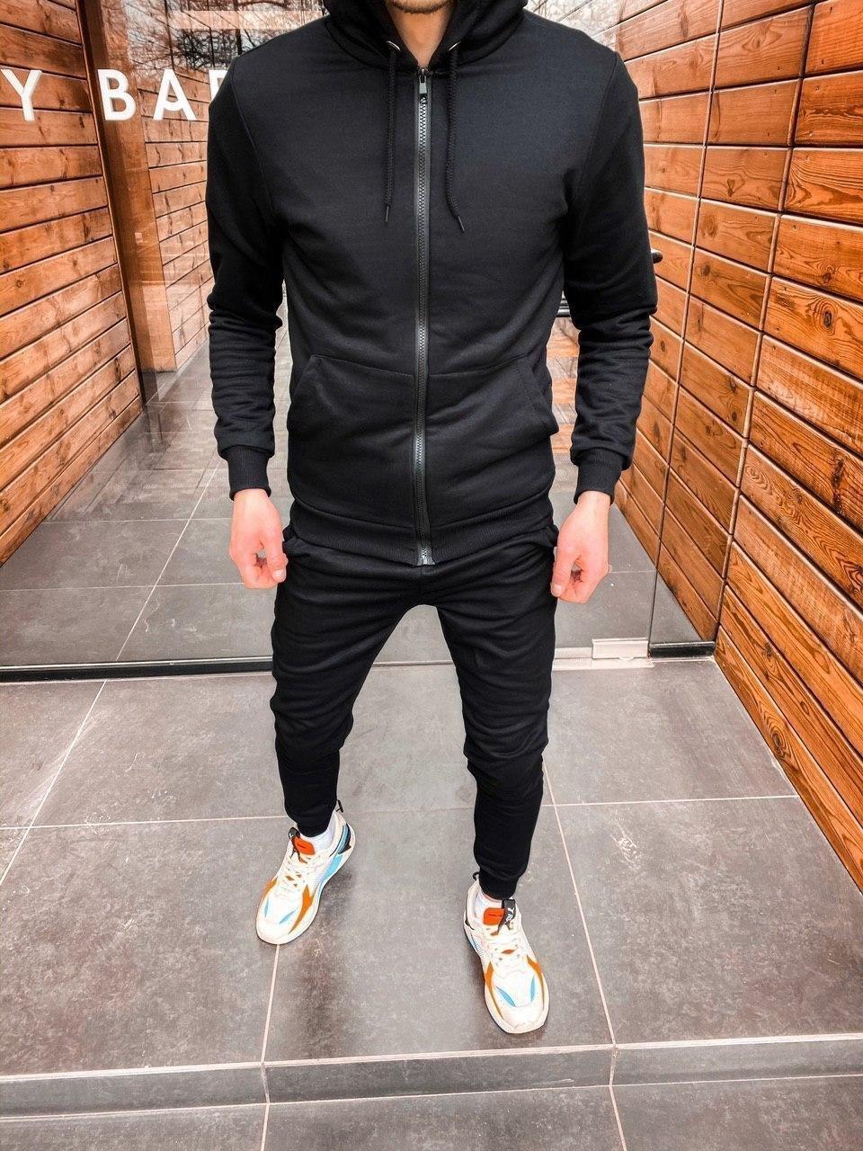 😜 Спортивный костюм - стильный мужской спортивный костюм черный