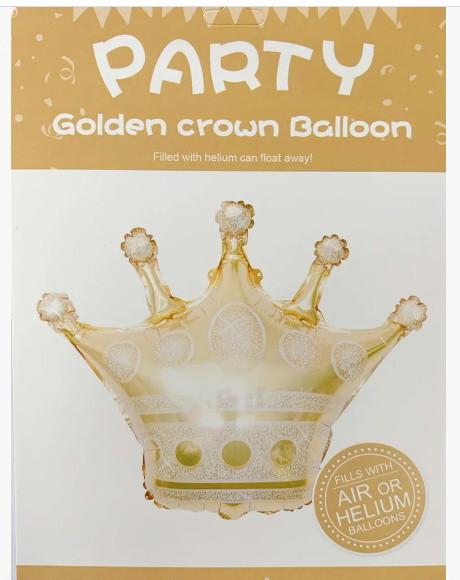 Фольгована кулька велика фігура Корона 68х60см Китай упаковка