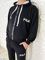 Стильный молодёжный спортивный костюм чёрного цвета L,XL, ХХL