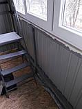 Наружная (внешняя) обшивка балкона профлистом (профнастилом), фото 5