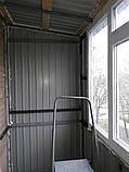 Наружная (внешняя) обшивка балкона профлистом (профнастилом), фото 6