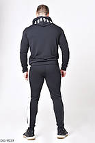 Мужской спортивный чёрный костюм с худи 46, 48, 50, 52, фото 2