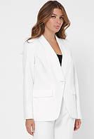 Белый женский классический пиджак