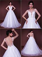 """Пышное свадебное платье со шлейфом """"Vanessa"""" с расшитым кружевом"""