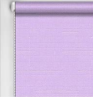 Рулонная штора Лен лиловый
