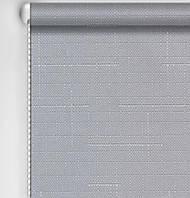 Рулонная штора Лен серый