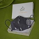 Серая маска защитная трехслойная многоразовая хлопковая, фото 4