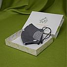 Серая маска защитная трехслойная многоразовая хлопковая, фото 7