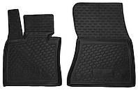 Коврики в салон Bmw X5 (f15, f85) 2012 - черные, полиуретановые (Avto-Gumm 11517-11564) - передний ряд