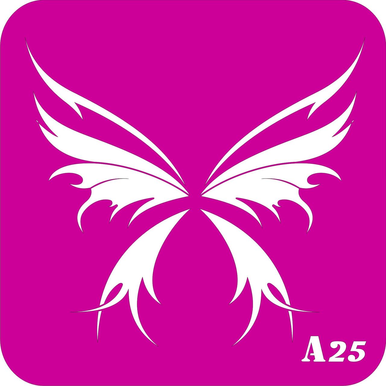 № А25 - трафарет для био тату хной и глиттером от Boni Kasel 15*15 см