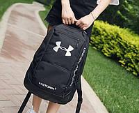 Рюкзак Under Armour Брендовый спортивный городской черный большой мужской школьный