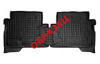 Коврики в салон Skoda Superb II (B6) 2008 - 2015, черные, полиуретановые (Avto-Gumm, 11295-11566) - задний водительский + пассажирский + перемычка