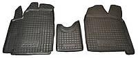 Коврики в салон Fiat Scudo II (1.6) 2007 - 2016, черные, полиуретановые (Avto-Gumm, 11675) - комплект (2 шт.) + перемычка