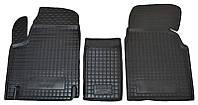 Коврики в салон Fiat Scudo I 1996 - 2006, черные, полиуретановые (Avto-Gumm, 11674) - комплект (2 шт.) + перемычка