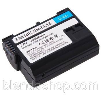 Аккумулятор для камер NIKON D7000, D7100, D7200, D7500, D600, D610, D800, D810 - EN-EL15 (A) аналог 2550 ma
