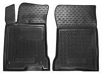 Коврики в салон Renault Laguna III 2007 - 2015, черные, полиуретановые (Avto-Gumm, 11687-11564) - передний водительский + пассажирский