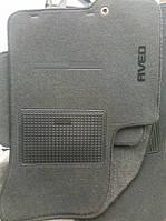 """Коврики текстиль Chevrolet AVEO до 2011Черные+ Перемыч """"ML"""" (пластиковая подложка+шип)"""