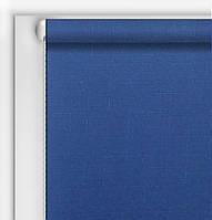 Рулонная штора Лен синий