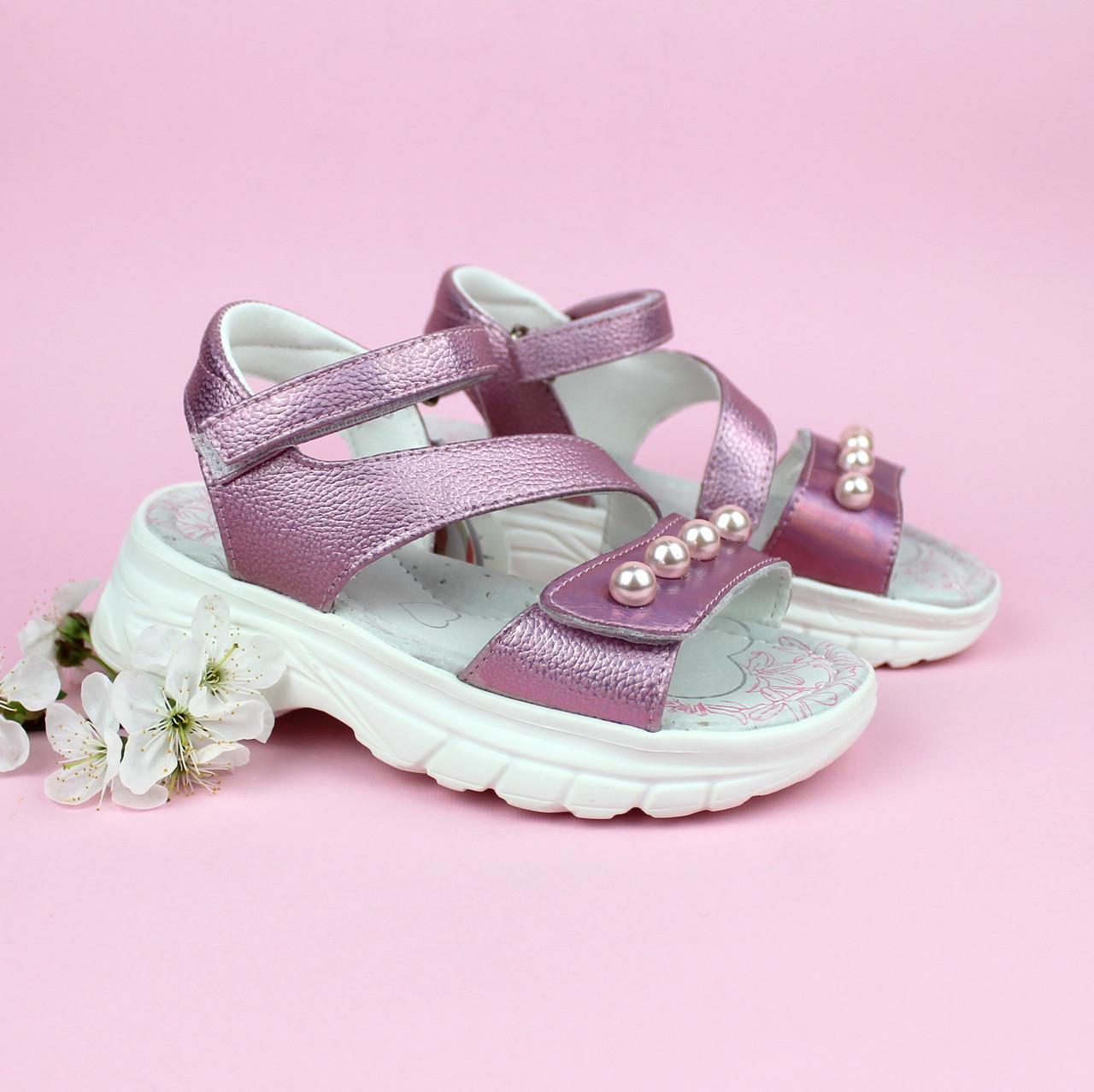 Розовые босоножки сандали для девочки TOMM размеры 30,32