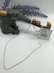 Цепочка из серебра якорный бисмарк ( двойной якорь), длинна 55 см.