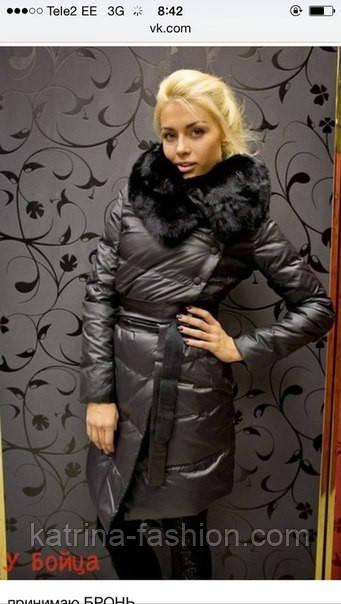 f1ccaa2dc48 Женская зимняя куртка с натуральным мехом - KATRINA FASHION - оптовый  интернет-магазин женской одежды