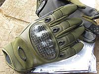 Перчатки тактические Оakley. OLIVE (расцветка - оливковые). Полнопалые, фото 1