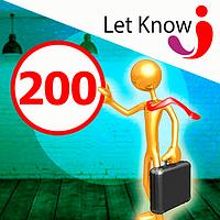 Преміум розміщення 200 позицій на дошці оголошень Let-Know на 1 місяць